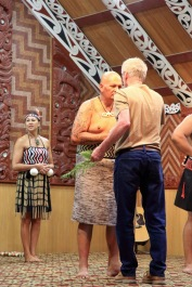 Marae ceremony chief welcomes Munro