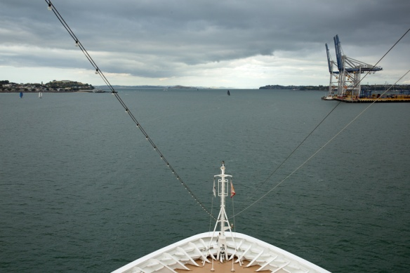 Outbound from the harbour