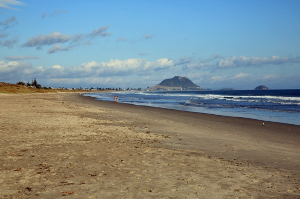 Papamoa Beach looking towards Mt Maunganui