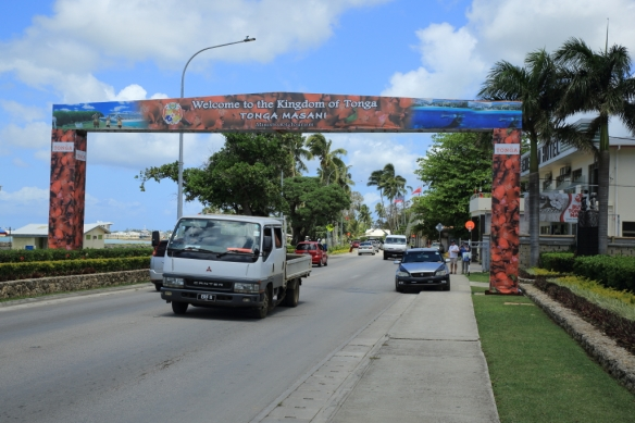 Welcome to Tonga sign