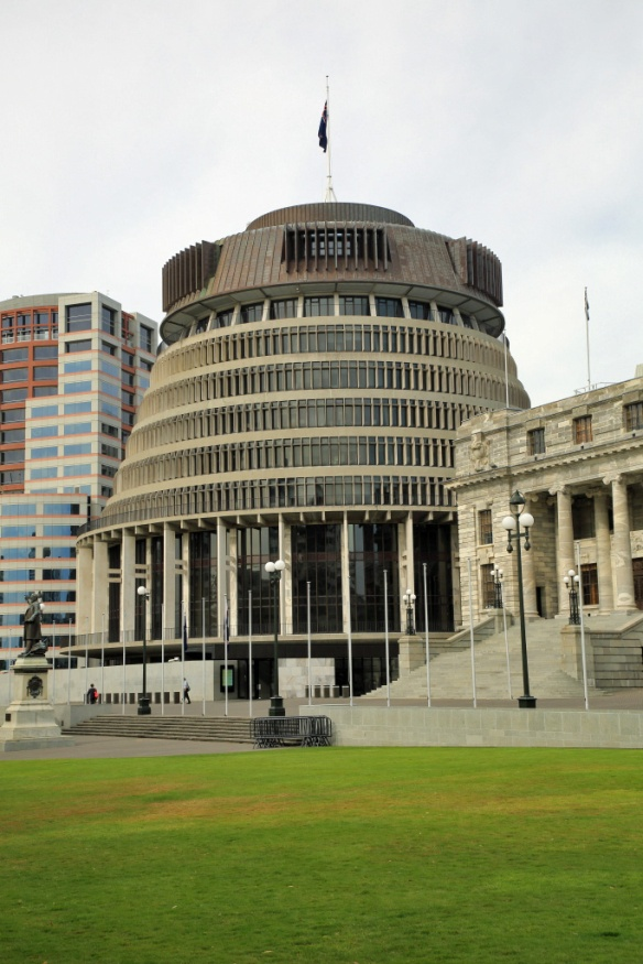 Beehive executive offices of NZ Govt