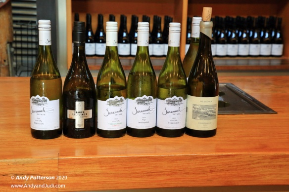 Ben ean white wines sampled