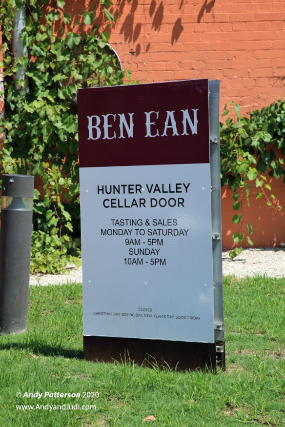 Ben Ean winery sign