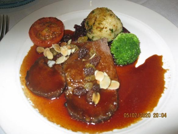 Braised Beef dinner