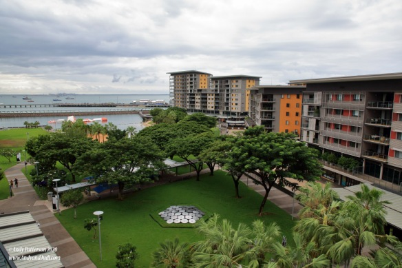 Darwin waterfront complex from skybridge