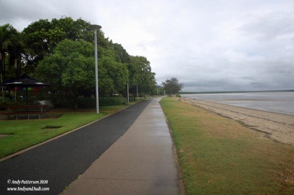 Esplanade walk past the playground