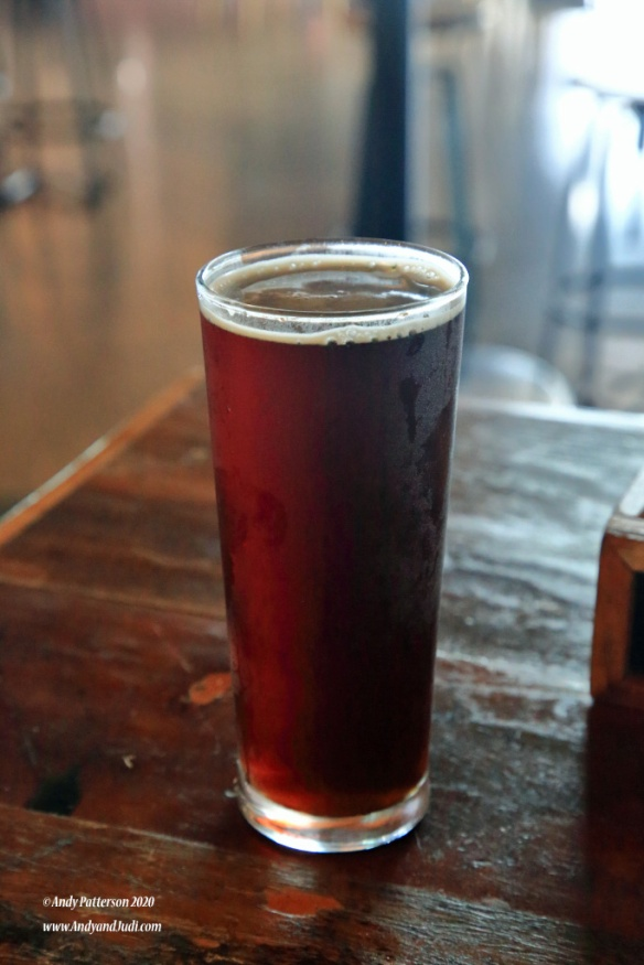 Hemingway's Brewery pint of Scotch Ale