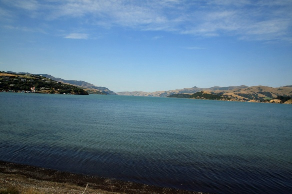 Included looking down inlet towards Akaroa