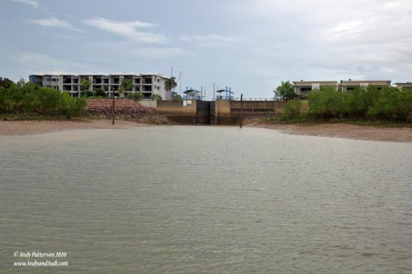 Lock gate into Bayview Marina