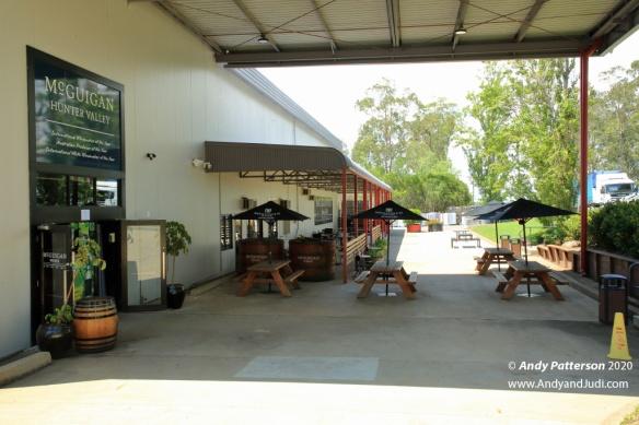 McGuigan outdoor tasting area