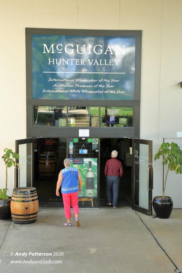McGuigan Winery tasting room entrance