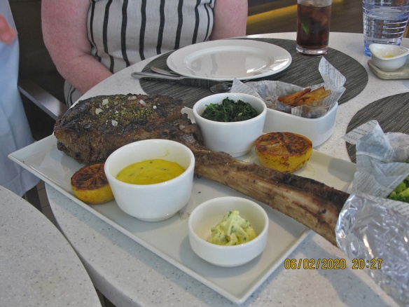 Our cooked Tomahawk steak