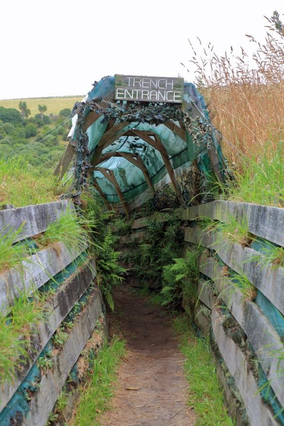 Penguin sanctuary trench entrance
