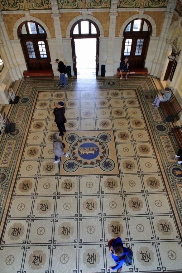 Railway station mosaic floor