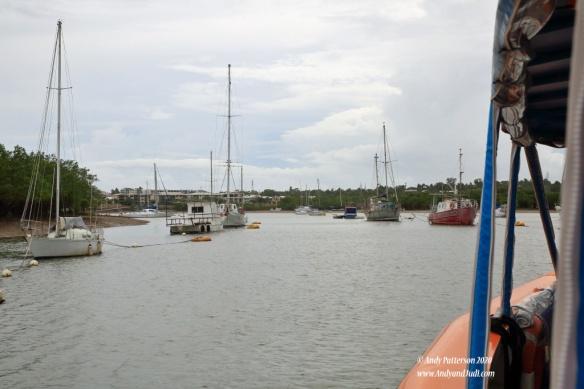 Sailing back up river