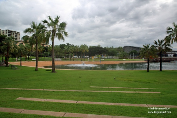Salt water safe pool and lawns