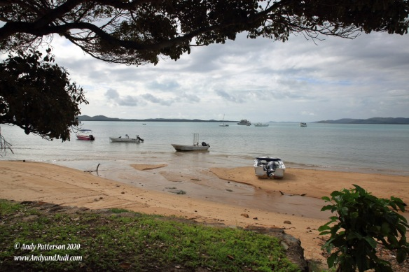 Thursday Is bay with boats at low tide