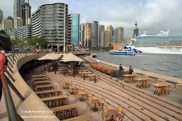 Waterfront pation below Opera House