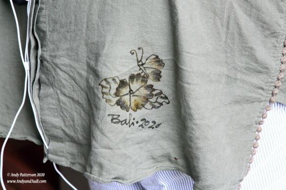 Batik - applying design to Judi's shirt 5