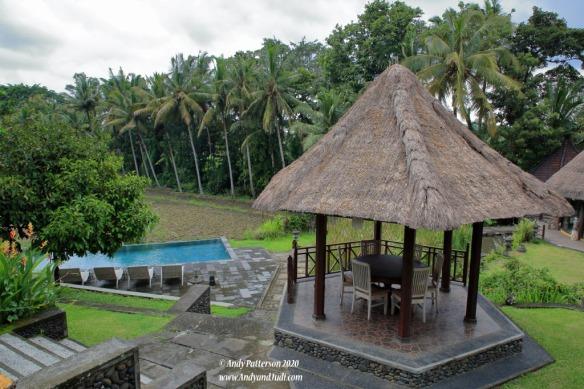 Lunch resort pool and gazebo