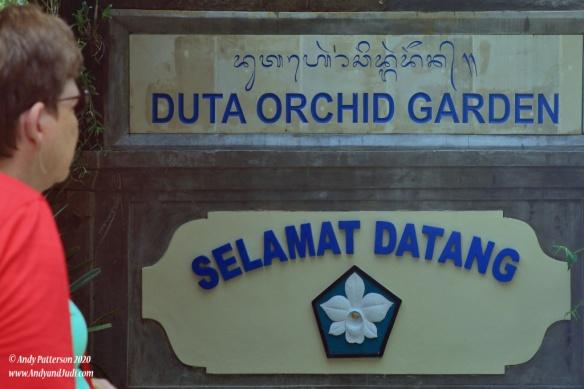 Orchid garden sign