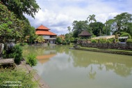 Taman Ayun front moat with reflections