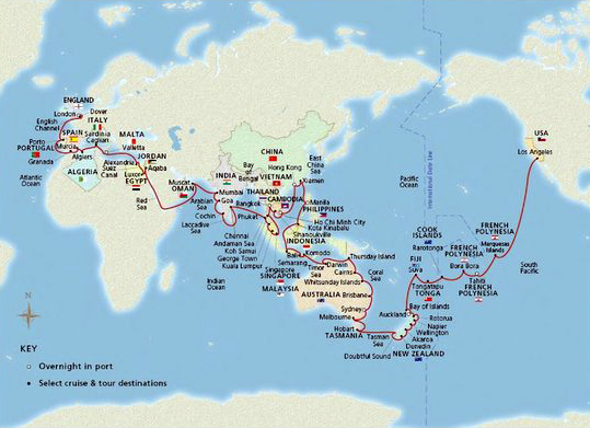 World Cruise Map