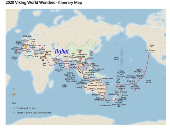 World Cruise Map 2