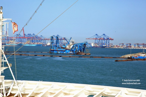 62 New exit channel dredge and container port