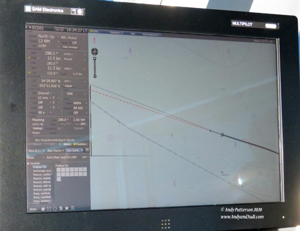 Bridge wing radar and ECDIS monitor