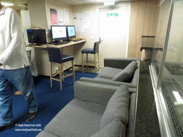 Crew Recroom computer workstations