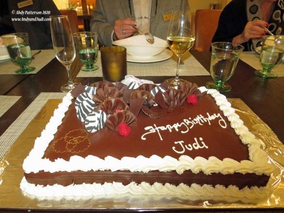 Dinner Apr 9th Judi's birthday cake