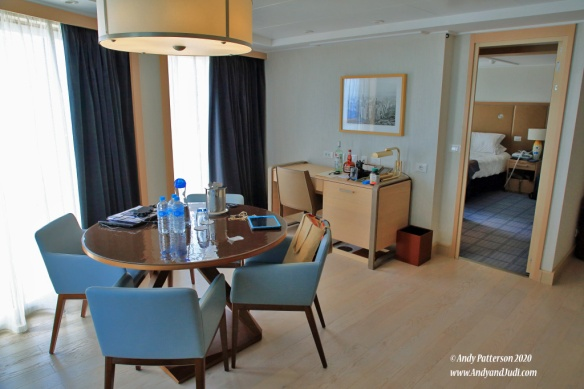 Suite dining room and desk