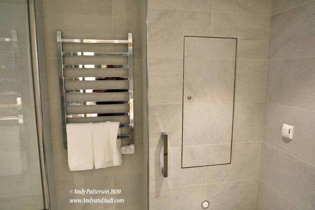Suite heated towel rack